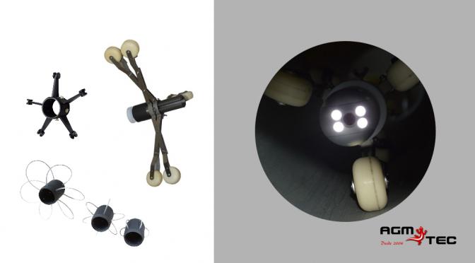 Importancia del centrador de cabezal en una cámara cctv para inspección de tuberías